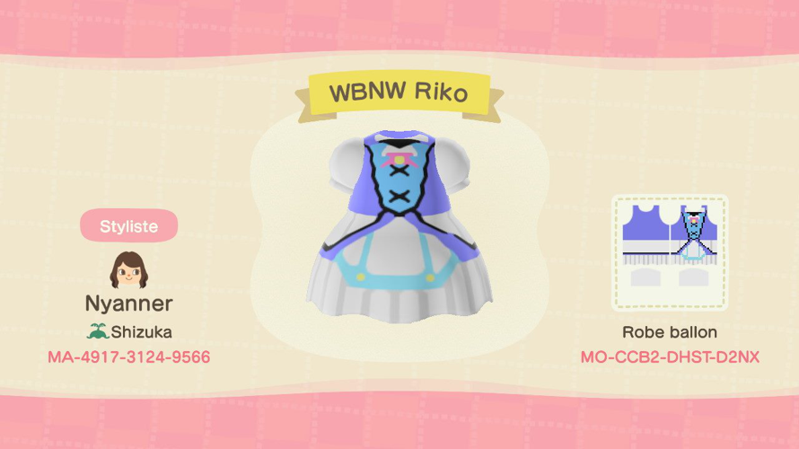 I tried to make Riko's Water Blue New World outfit
