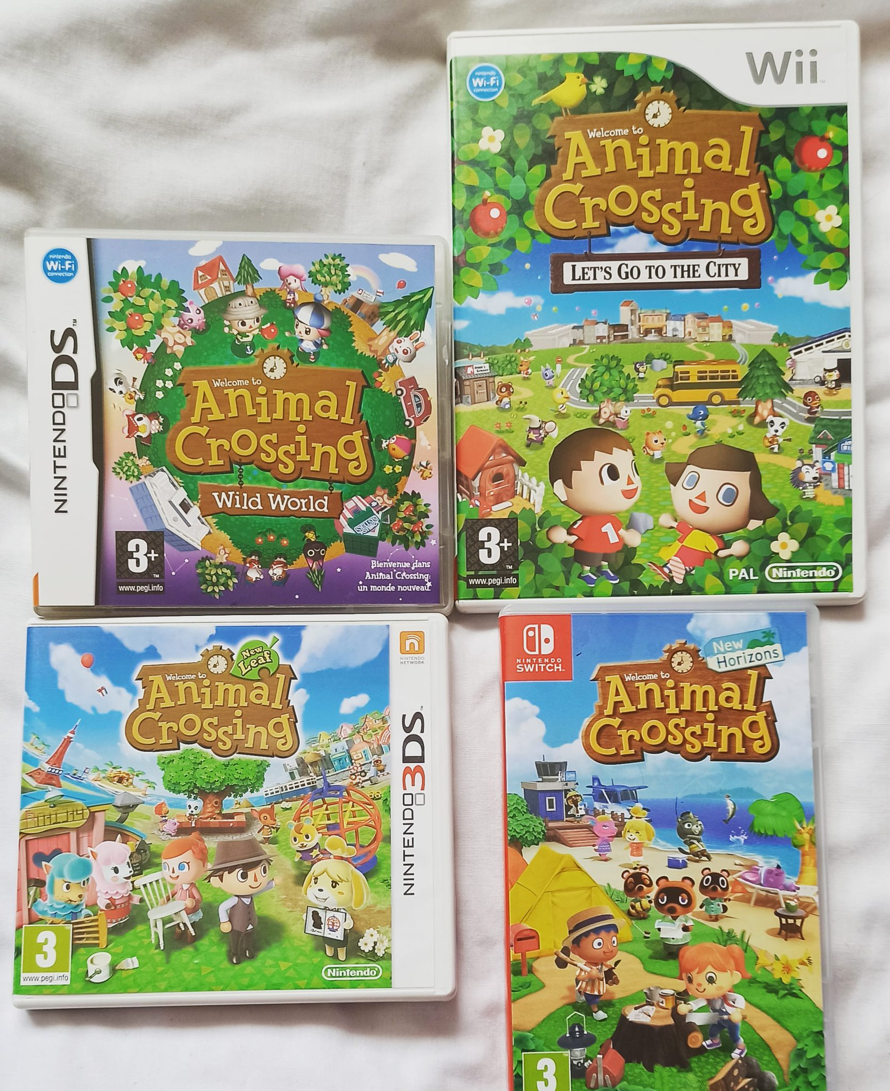Hello! I'm showing you today my collection of Animal Crossing games 🥰