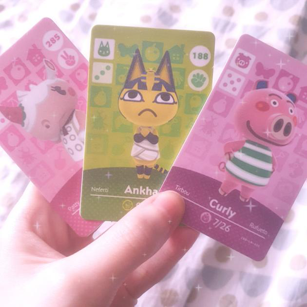 Hello, I finally got my 3 amiibo cards this afternoon! I finally have my darling Curly from NL or he...