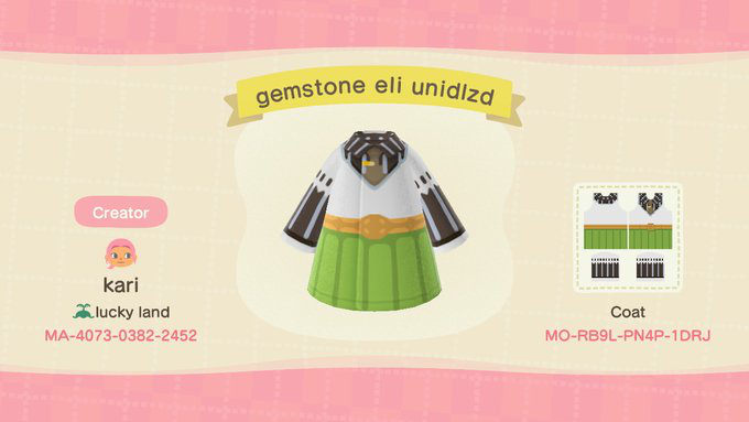 i made eli's outfit from the unidolized version of the gemstone set!