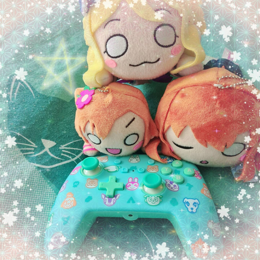 Here is the controller I received from Animal Crossing and here are my Neso love Live  the photo is...