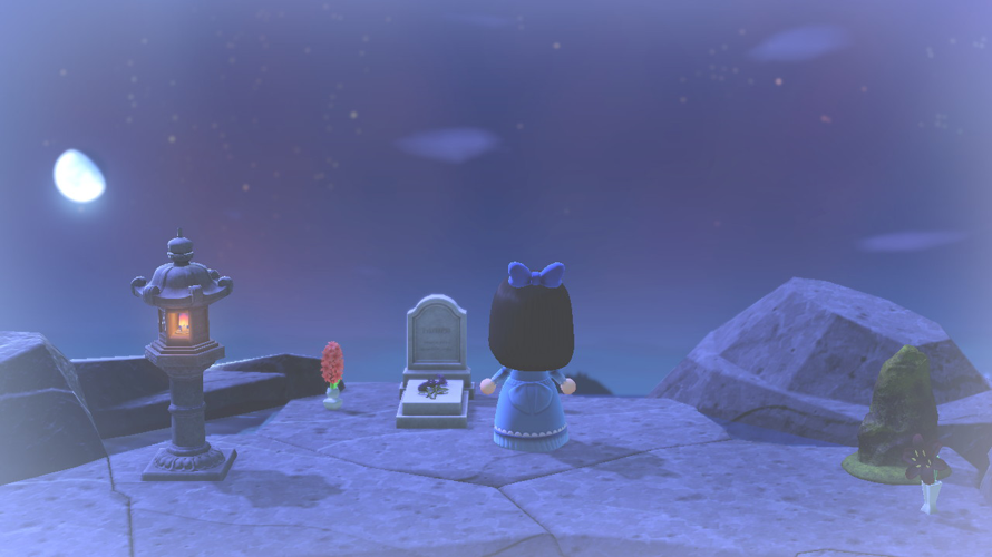 It's been a while since I last posted! Here's an image of my little gravesite that I had created lol